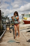 Annabelle after Daddy's fishing lessons