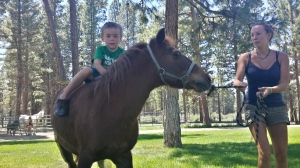 Gunnar right before he super manned it off the pony Haha!
