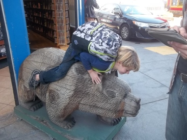 Darius ridding the bear