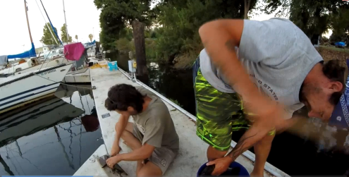 Cleaning the catch of the day