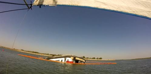 Sunken boat on the Delta