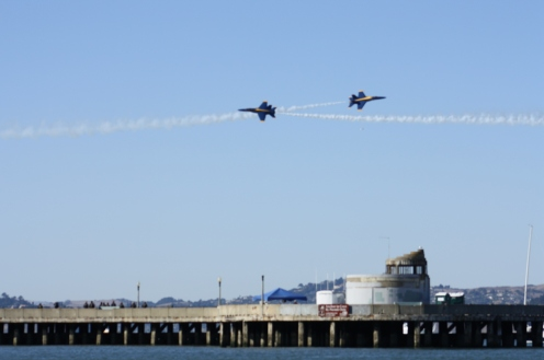 Blue Angles over San Francisco Bay